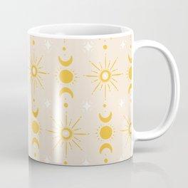 Yellow Sun & Moon Pattern Coffee Mug