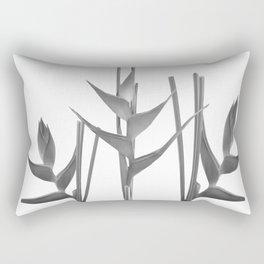 Three Heliconia black white Design Rectangular Pillow