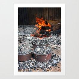 Cooking Damper Art Print