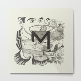 M is for Martini Metal Print