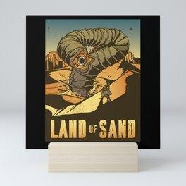 Sandworm Attack on Desert Planet Mini Art Print