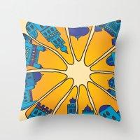 morocco Throw Pillows featuring Morocco by Galina Khabarova