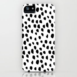 Hand drawn drops and dots on white - Mix & Match with Simplicty of life iPhone Case