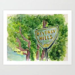 Beverly Hills Street Sign Art Print