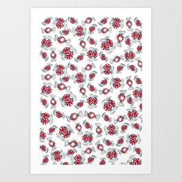 Holiday Peppermints Art Print