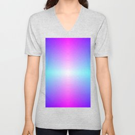 Purple, Pink, Blue and White Ombre flame pattern Unisex V-Neck