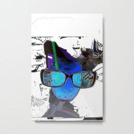 series drink - glasses drink Metal Print
