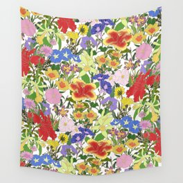 Morning Blooms Wall Tapestry
