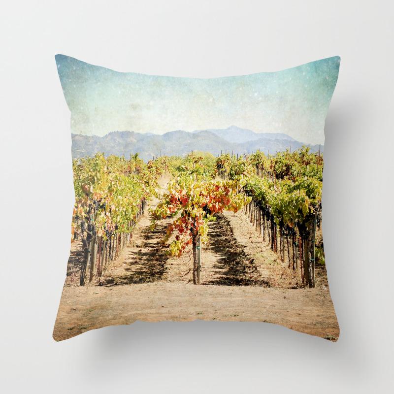 The Vineyard Throw Pillow By Jenndalyn Society6