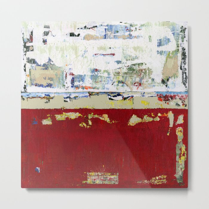 Ragged Glory Red Abstract Landscape Metal Print