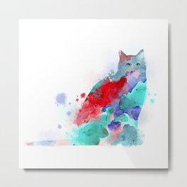 Cat 609 Metal Print
