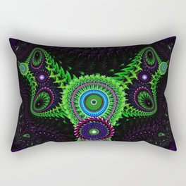 Fluorescent Bat Rectangular Pillow