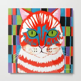 Bad Cattitude - Cats Metal Print