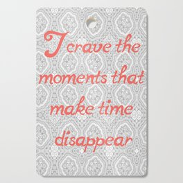 Disappearing Time Cutting Board