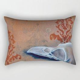 Oil Paint Study - Magpie Pattern Rectangular Pillow