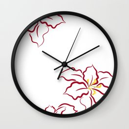 Poinsettia - white Wall Clock