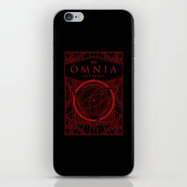 Omnia Suprema tuck box iPhone Skin
