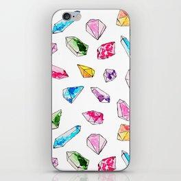 Watercolor Gem Stone  iPhone Skin