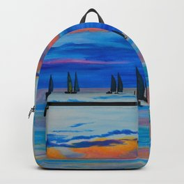 I'd Rather Be Sailing by Teresa Thompson Backpack