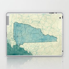 New Hampshire State Map Blue Vintage Laptop & iPad Skin