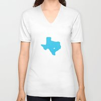 texas V-neck T-shirts featuring Texas by Hunter Ellenbarger