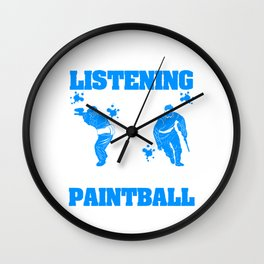 Paintball T-shirt Design For Unique Sport Lover Shooting Shoot Shooter Color Paints Colors Colorful Wall Clock