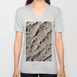 TEXTURES: Walnut Bark Unisex V-Neck