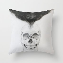 SKULL   The Persistence of Memory Throw Pillow