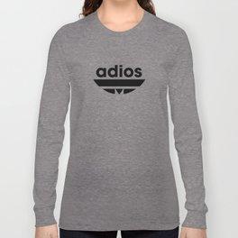 ADIOS print black and white Long Sleeve T-shirt