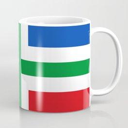 Flag of Groningen (province) Coffee Mug