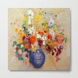 Odilon Redon Flowers Metal Print