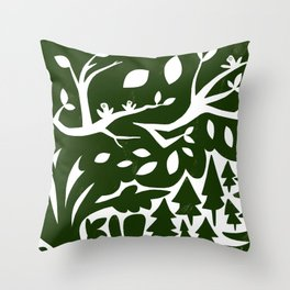 Erik of the Woods Throw Pillow