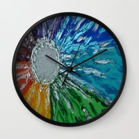 chakra Wall Clocks featuring Chakra Healing by Pixie Willow Art Designs