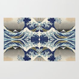 The Great Wave off Kanagawa Symmetry Rug