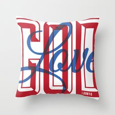 God is Love Throw Pillow