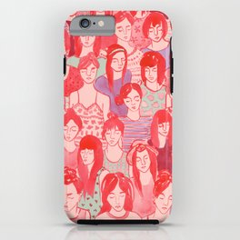 Girl Crowd iPhone Case