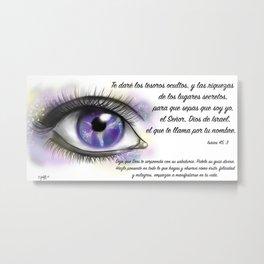 Ojo galaxia - Isaías 45, 3 Metal Print