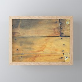 Wood Planks Shipboard Framed Mini Art Print
