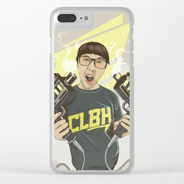 Phop gun Clear iPhone Case