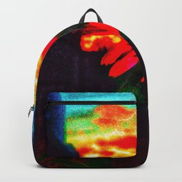 Neon Cone Flower Backpack
