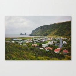 Overlooking Vik, Iceland Canvas Print