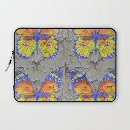 SHABBY CHIC YELLOW & BLUE BUTTERFLIES Laptop Sleeve