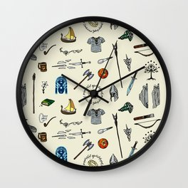 Lord of the pattern Wall Clock
