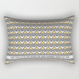 Golden Mountains Rectangular Pillow