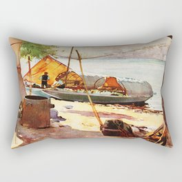 Vintage Stresa Italy Travel Rectangular Pillow