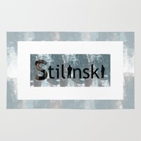 stiles stilinski Area & Throw Rugs featuring Stilinski by Ana Sánchez