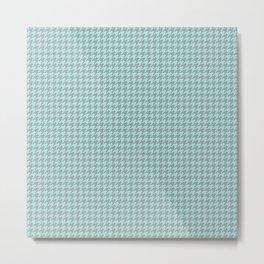 Light Blue Houndstooth Pattern Metal Print