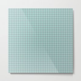 Light Blue Houndstooth Pattern Metal Print