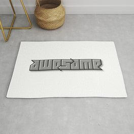 AWESOME ambigram Rug