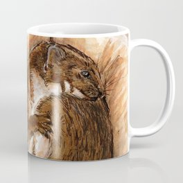 A little weasel in his hand Coffee Mug